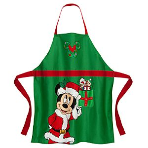 Santa Mickey Mouse Apron for Adults