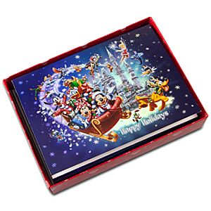 Santa Mickey and Friends Greeting Cards