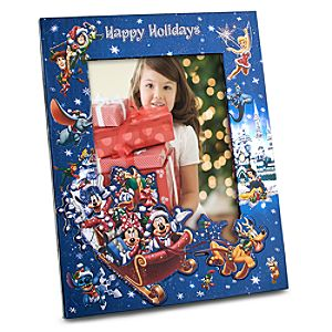 Santa Mickey and Friends Holiday Photo Frame -- Adjustable 5 x 7 or 4 x 6