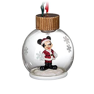 Light-Up Santa Mickey Mouse Ornament