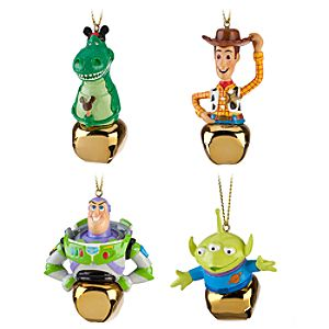 Jingle Bell Toy Story Ornament Set -- 4-Pc.