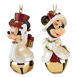 Minnie and Mickey Mouse Ornament Set