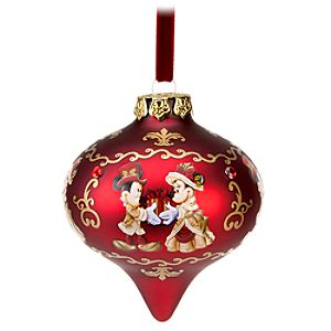 Victorian Droplet Minnie and Mickey Mouse Ornament