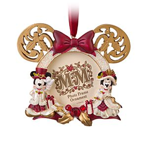 Victorian Minnie and Mickey Mouse Photo Frame Ornament -- 2 1/2 x 2 1/2