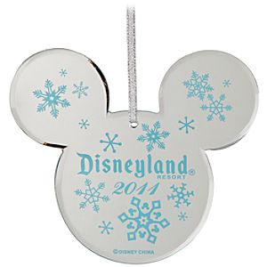 Disneyland 2011 Mirrored Icon Mickey Mouse Ornament