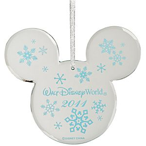 Walt Disney World 2011 Mirrored Icon Mickey Mouse Ornament