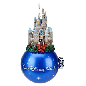 Glitter Walt Disney World Cinderella Castle Ornament