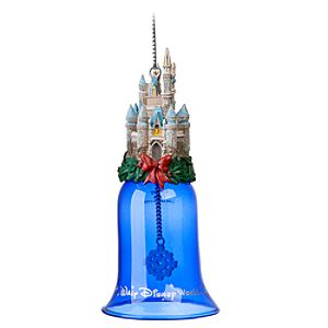 Glitter Walt Disney World Cinderella Castle Bell Ornament