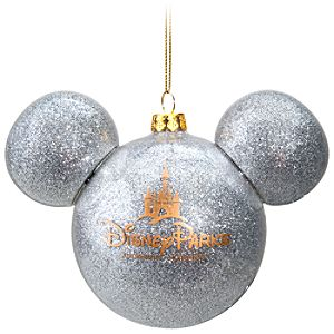 Icon Mickey Mouse Ornament -- Silver