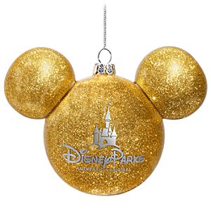 Icon Mickey Mouse Ornament -- Gold