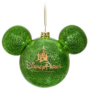 Icon Mickey Mouse Ornament -- Green