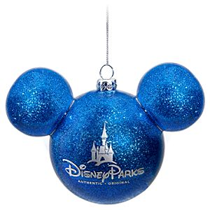 Icon Mickey Mouse Ornament -- Blue