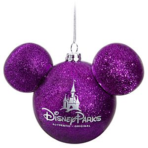 Icon Mickey Mouse Ornament -- Purple