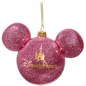 Icon Mickey Mouse Ornament -- Pink