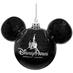 Icon Mickey Mouse Ornament -- Black