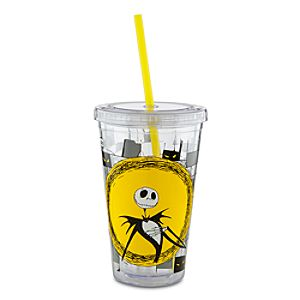 Tim Burtons The Nightmare Before Christmas Tumbler with Straw