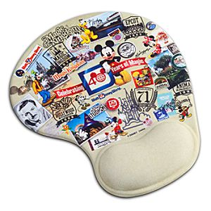 40 Years of Magic Walt Disney World Mousepad with Wrist Rest