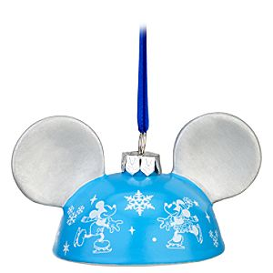 On Ice Mickey Mouse Ear Hat Ornament