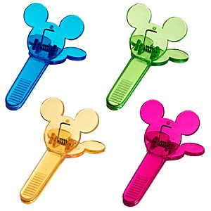 Color Fusion Mickey Mouse Bag Clip Set -- 4-Pc.