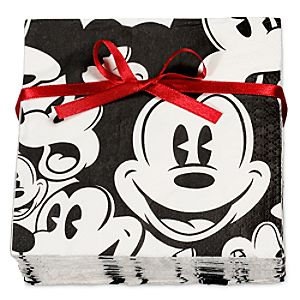 Black and White Mickey Mouse Napkins