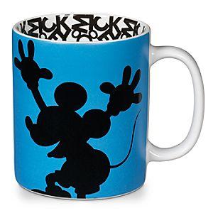 Silhouette Mickey Mouse Mug â?? Blue