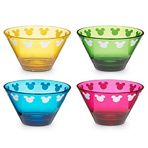 Color Fusion Mickey Mouse Bowl Set -- 4-Pc.