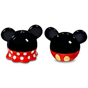"""Best of Mickey"" Minnie and Mickey Mouse Salt and Pepper Shaker Set"