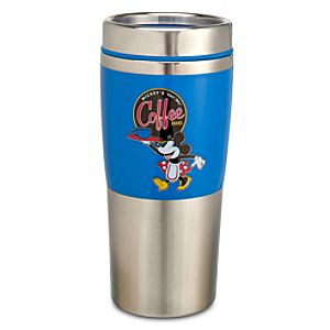 Blue Minnie Mouse Coffee Tumbler