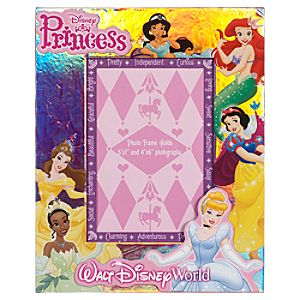 Walt Disney World Princess Photo Frame -- Adjustable 5 x 7 or 4 x 6