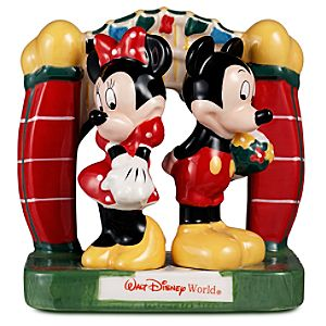 Walt Disney World Minnie and Mickey Mouse Salt and Pepper Shaker Set -- 3-Pc.