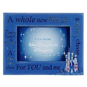 A Whole New World Cinderella Castle Photo Frame -- 4 x 6