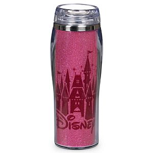 Purple Glittering Walt Disney World Travel Mug