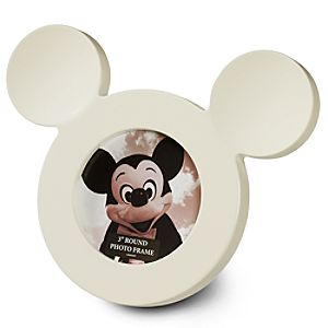 White Mickey Mouse Icon Photo Frame -- 3