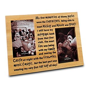 Etched Wood Disney Parks Picture Frame