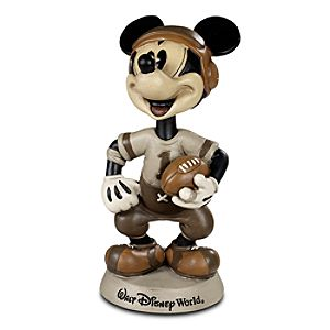 Walt Disney World Football Mickey Mouse Bobblehead -- 9 H
