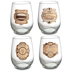 Epcot International Food and Wine Festival Stemless Glass Set -- 4-Pc.