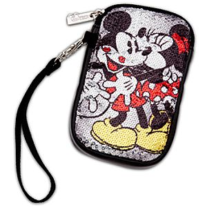 Sequin Minnie and Mickey Mouse Cell Phone Case