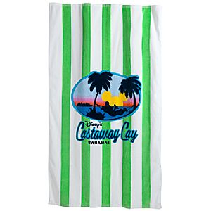 Disney Cruise Line Castaway Cay Mickey Mouse Beach Towel
