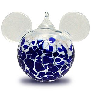 Blown Glass Mickey Mouse Ornament by Reinhard Herzog - Small