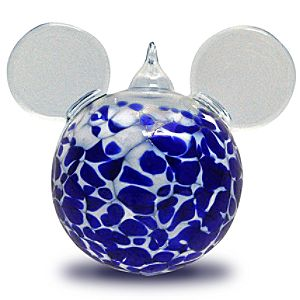 Blown Glass Mickey Mouse Ornament by Reinhard Herzog - Large