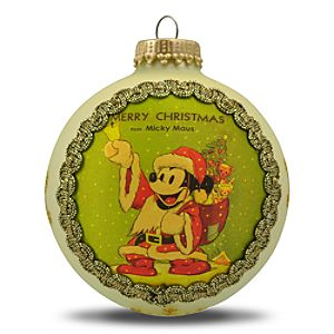 Limited Edition Merry Christmas Micky Maus Mickey Mouse Ornament by Krebs -- Cream