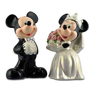 Wedding Minnie and Mickey Mouse Salt and Pepper Set -- 2-Pc.
