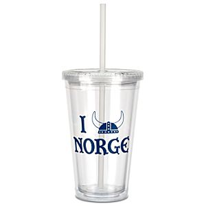 Epcot World Showcase Norway I Helmet Norge Tumbler with Straw