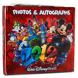 2012 Walt Disney World Resort Photo & Autograph Book with Pen