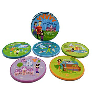 Walt Disney World Coaster Set by Shag -- 5-Pc.