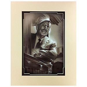 Walt in Train Deluxe Print by Noah