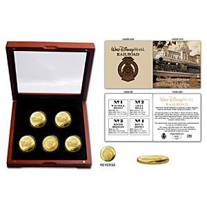 Limited Edition Walt Disney World Railroad Coin Set -- 5-Pc.