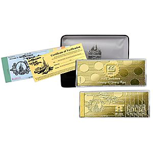 Limited Edition Walt Disney World Opening Day Golden Ticket Replica