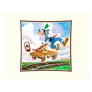Goofy on a Handcar Deluxe Print on Paper