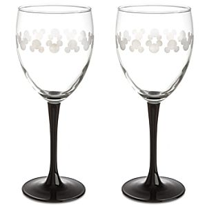 Iconic Mickey Mouse Wine Glasses -- 2-Pc.